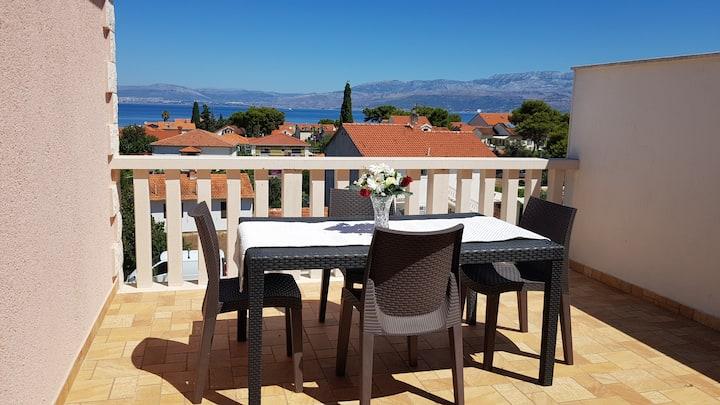 Sea View & Garden View Apartment in modern villa