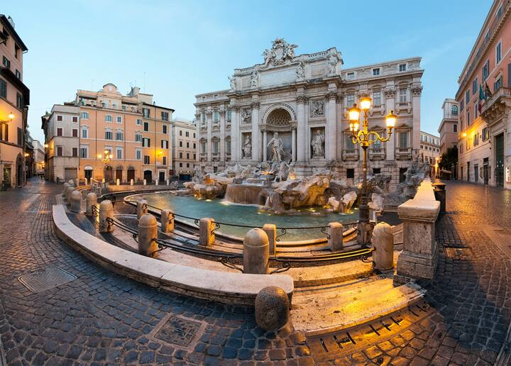 Trevi Fountain...Never this Empty!