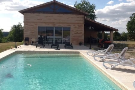 Pool house with stunning views. - Montvalen