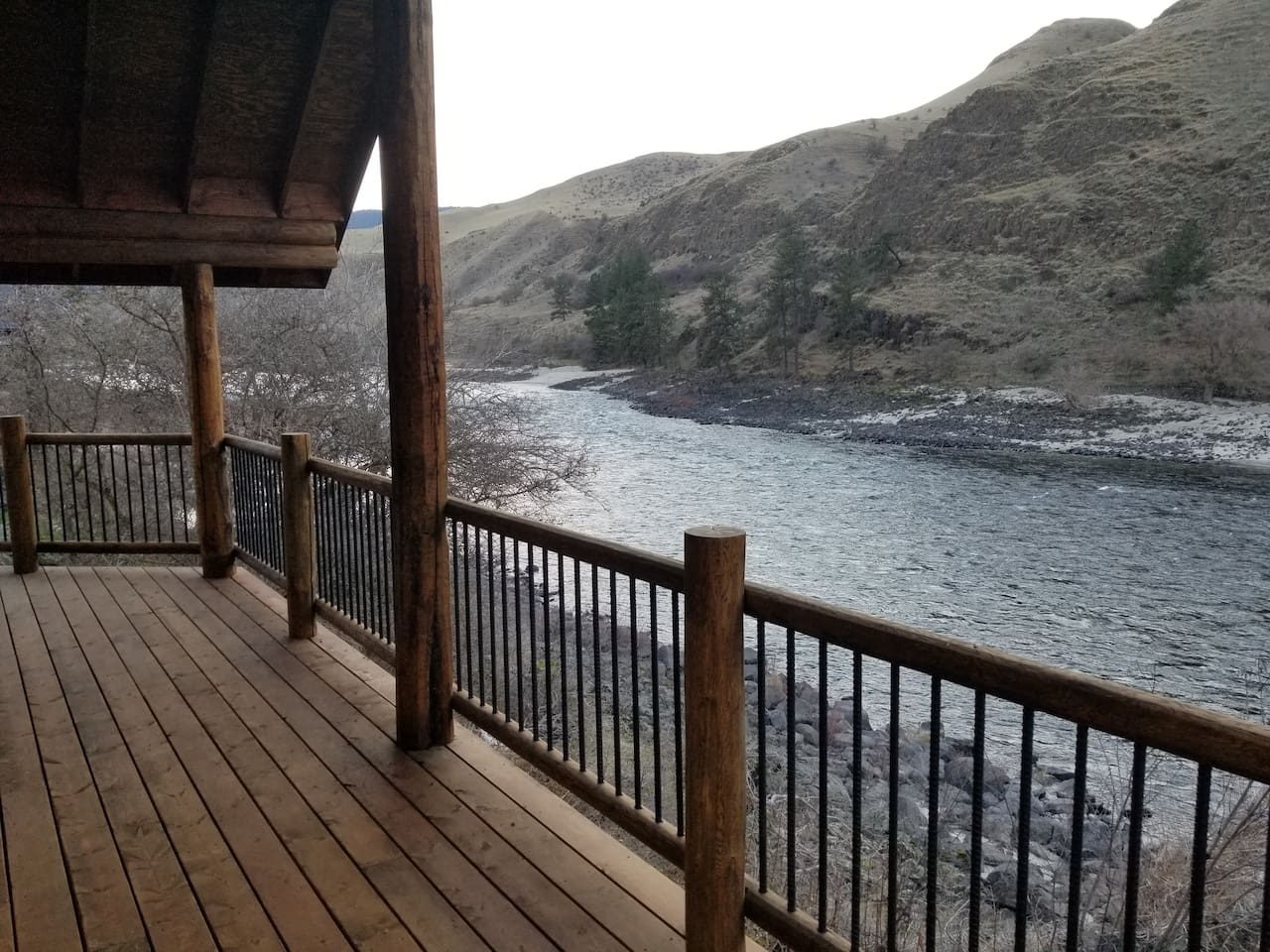 Right on the Salmon River!