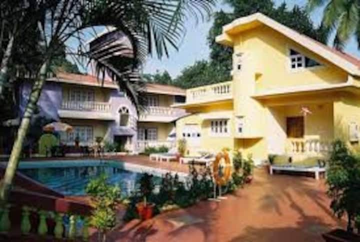 delux apartment in candolim near the beach