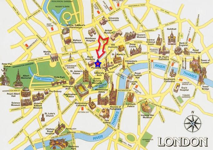 5★ Superhost! Soho XL Room - Londres - Pis