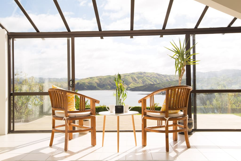 Tea time on your personal deck