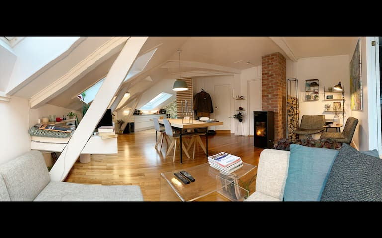 Spacious loft apartment in the best part of Oslo