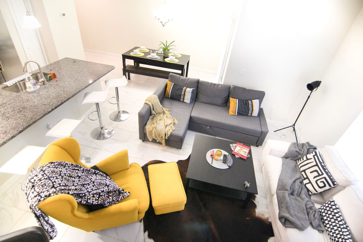 Bright living room on the first floor!