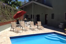 Guests enjoy private pool,  sun deck & BBQ