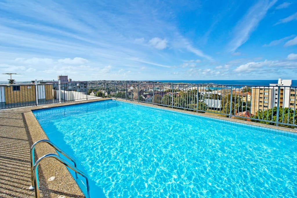 Rooftop pool with crystal clear water - take a dip!