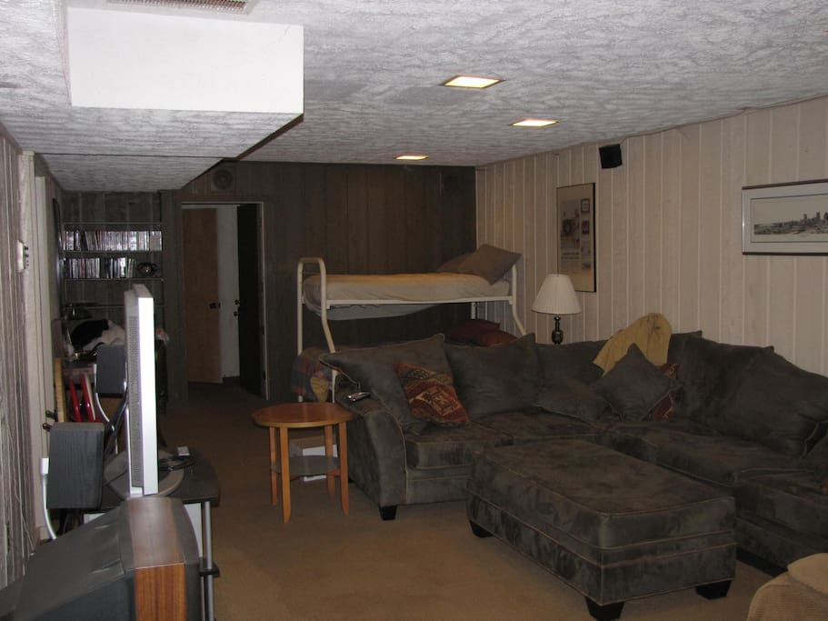 Bonus Room with Bunk Bed and private bath with sauna (lower level) - THIS LISTING