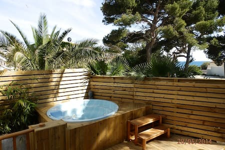 Rdc de villa avec jacuzzi et sauna en bord de mer - Sausset-les-Pins - Lägenhet