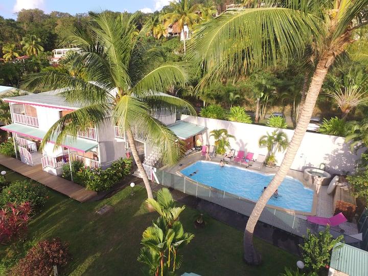 Karukera Sunset vue mer des caraïbes en Guadeloupe