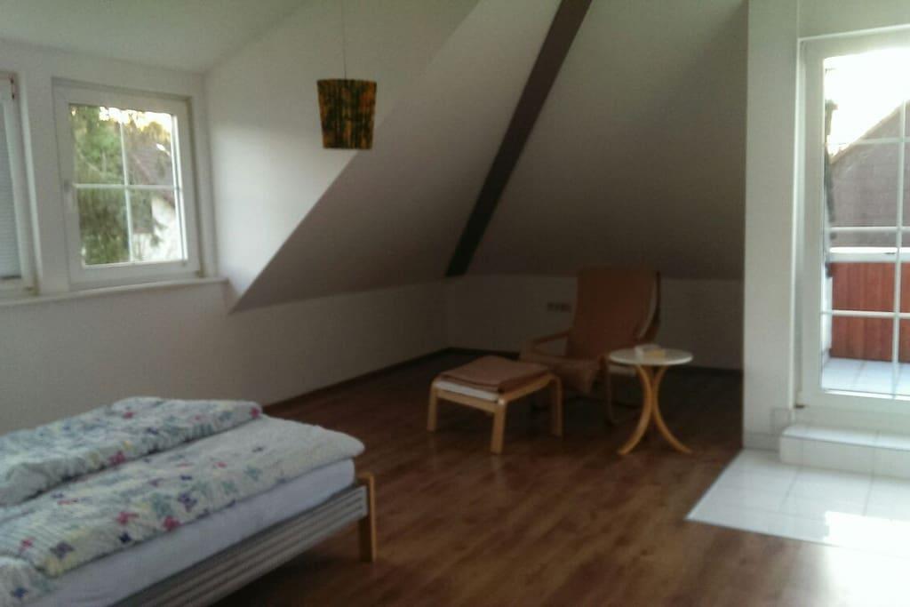 quiet double room at 1 floor
