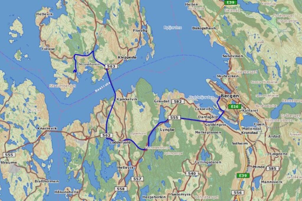 20 minutters kjørsel fra Bergen sentrum