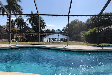 Pool/Canal home by Port Canaveral/NASA