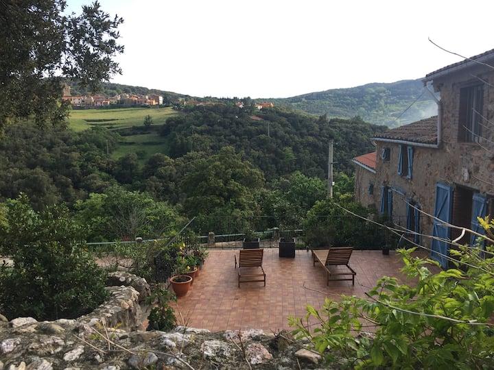 escale au gîte Neria dans les Pyrénées Orientales