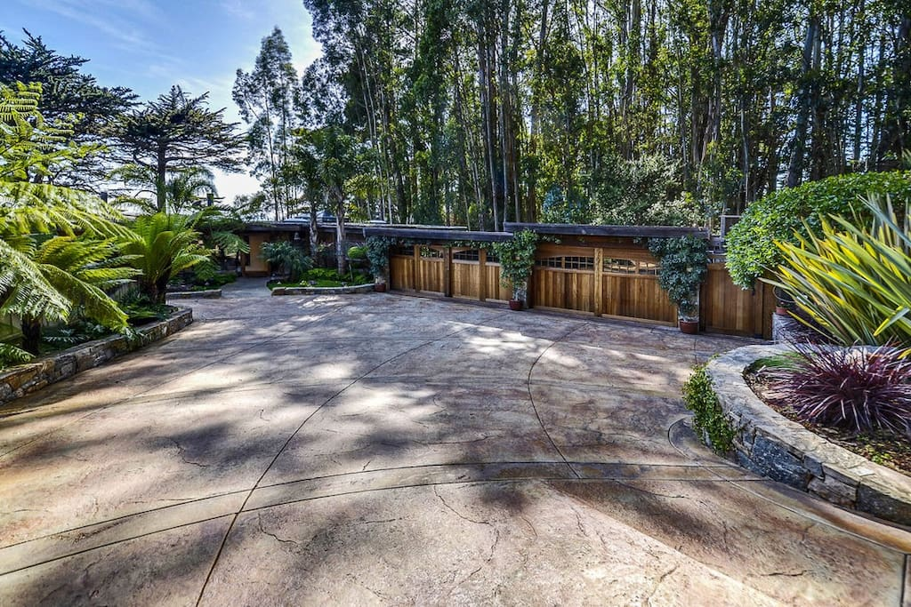 large, private driveway allowing space for up to 4 cars.