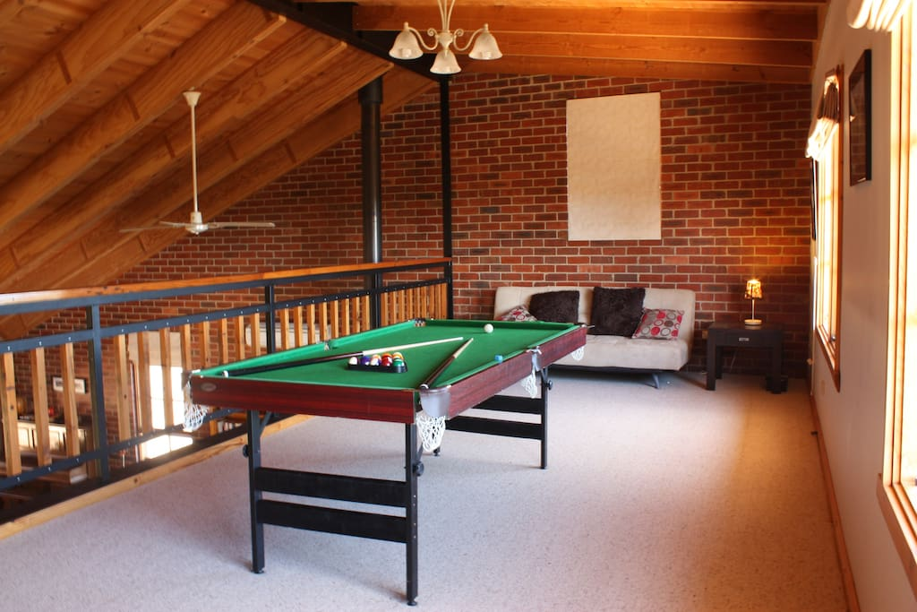 Mezzanine with Pool table