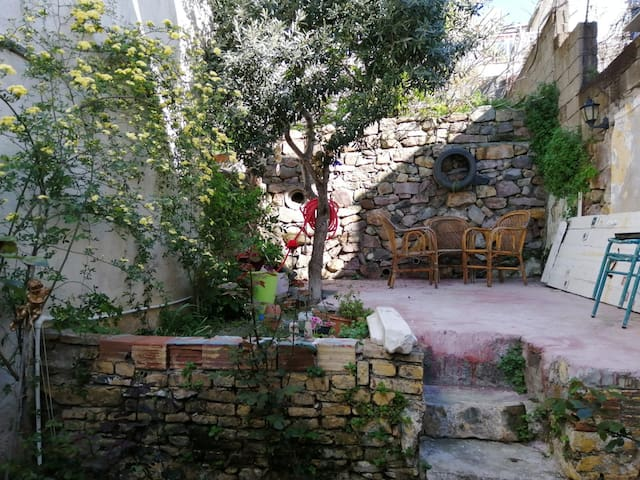 Triplex, Old-Greek House with a Private Garden
