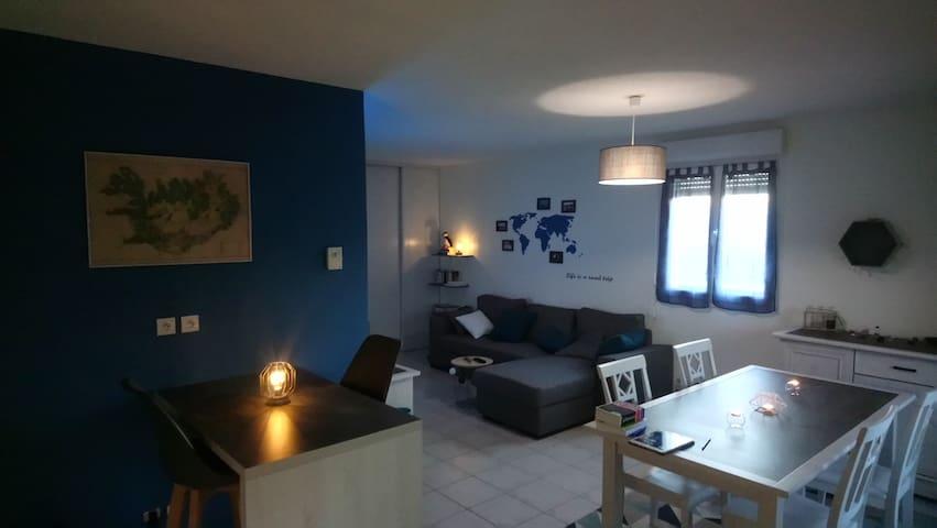Chambre double dans appartement 50m2 en résidence