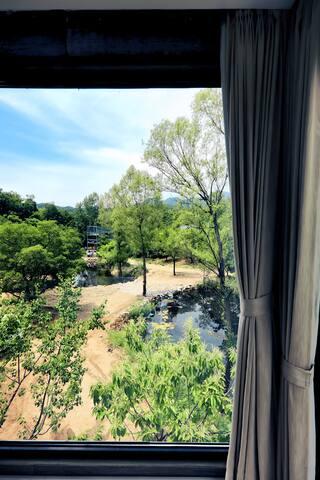 从二楼卧室看出去的景色