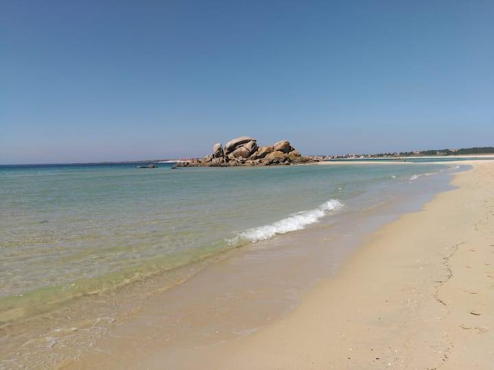 Bonito apart. en la playa a 50minutos De Santiago