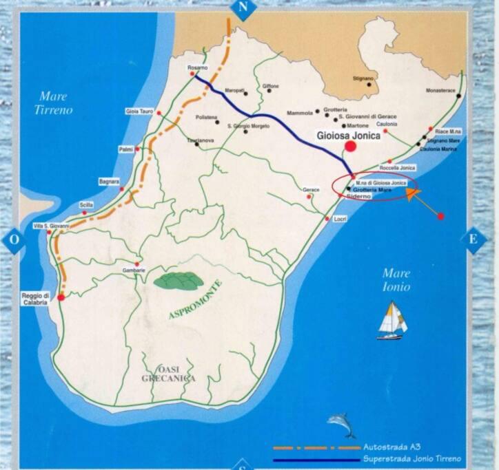Marina di Gioiosa nella mappa
