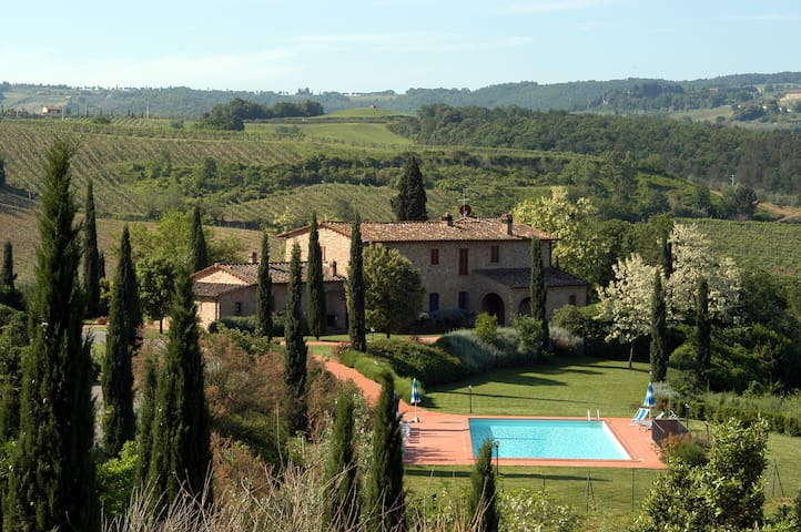 3 Villas, 1  house & shared pool by Florence &Pise