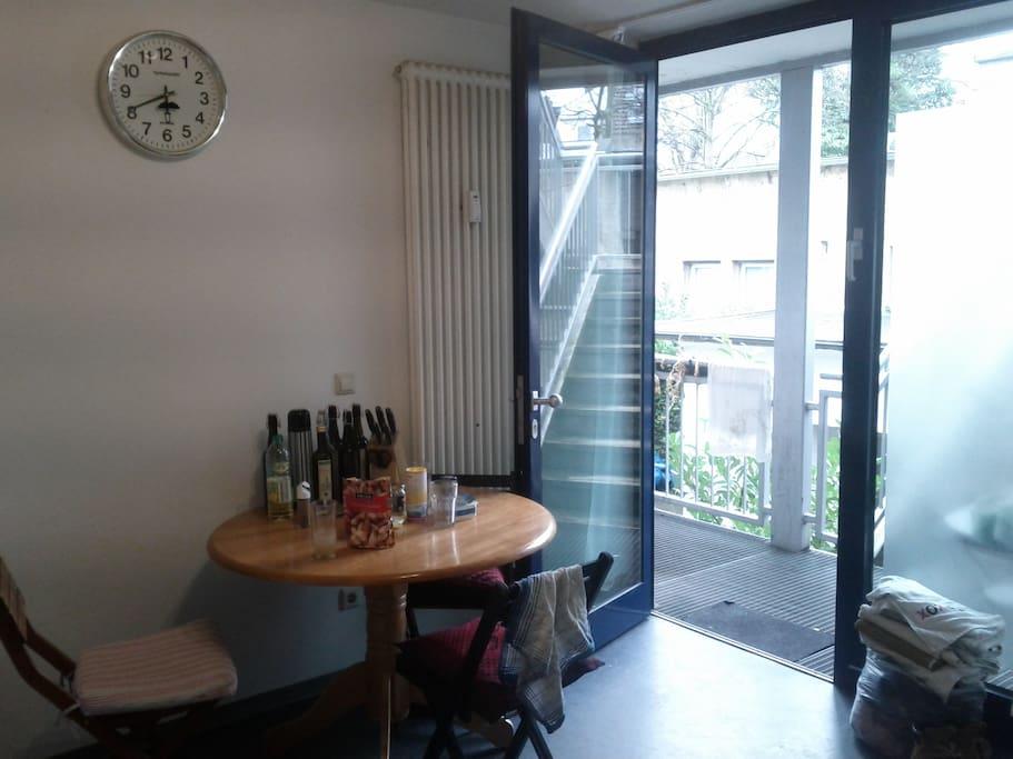 Kitchen + front door