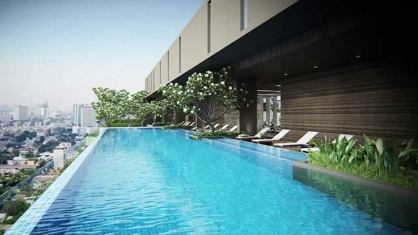 Top Floor Infinity Pool in the Heart of the City - Bangkok - Appartement en résidence