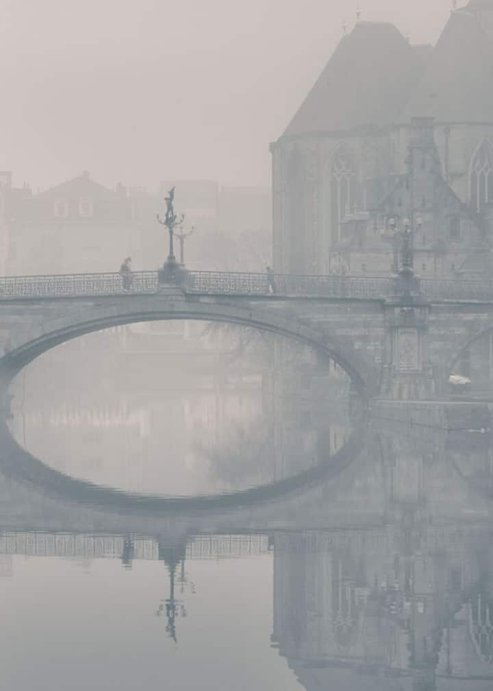 St.Michael bridge in fog