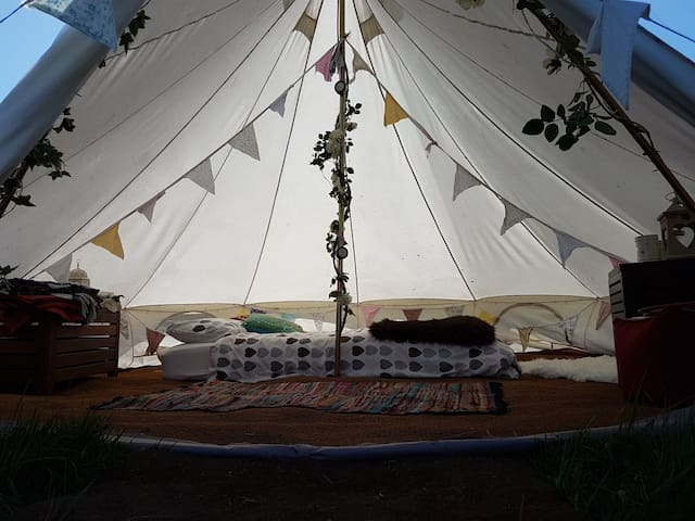 Glamping Bell Tents near York