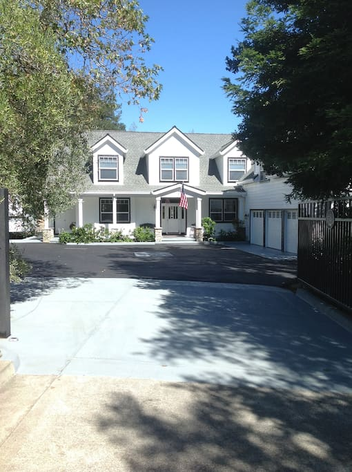 A bonanza of secure and paved parking ....even room for up to a 35' R.V. In a traditional styled, but modern home.  The last home on a private lane within a quiet and leisurely-paced neighborhood...just minutes from wine tasting venues.