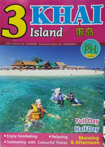 "Free of charge for ""3 Khai islands trip"" for customer who stays at least 15 nights. We will buy a package for you to do snorkeling at Khai islands. They are beautiful islands :)  P.S. Free for one customer per one room."