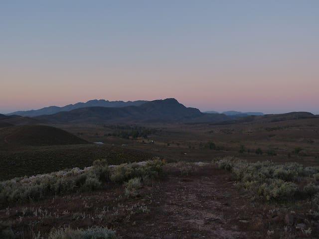 View to Elder Range (Foreground) and Rawnsley Bluff (Wilpena Pound)