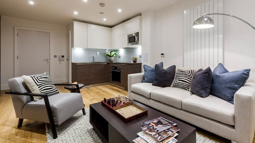 Modern stylish one-bedroom flat with all amenities
