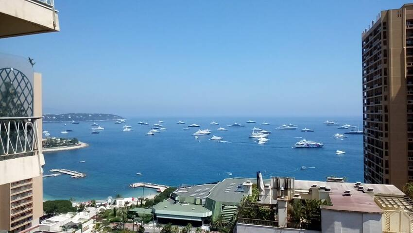 MONTE-CARLO CENTRAL: Luxury w/ fantastic sea view