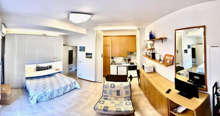 Studio Residence Nervi Genova sea pool parking