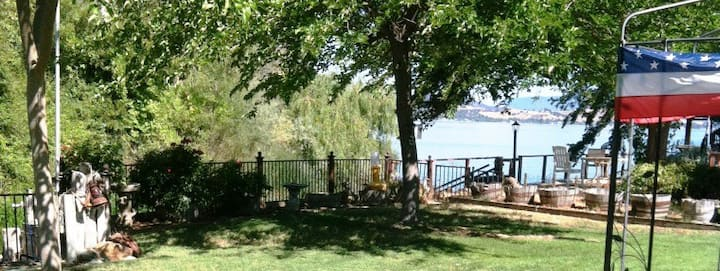 """""""A Lake House"""" Lakeport, Clearlake CA.  King bed"""