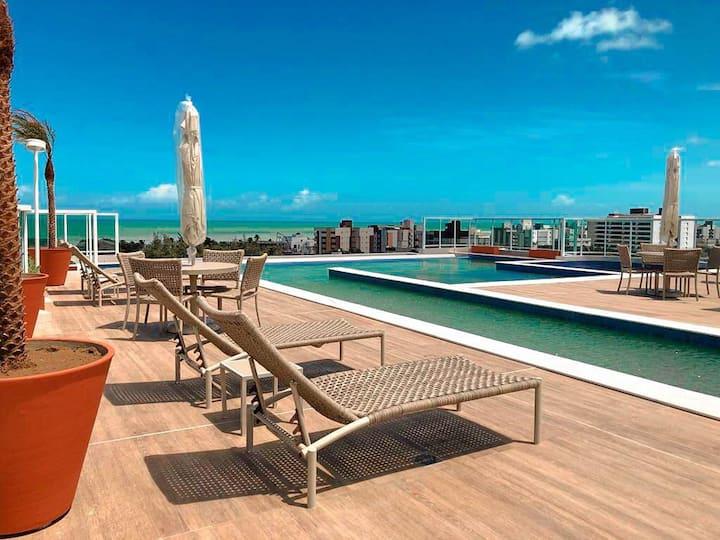 Belíssimo flat na praia do Bessa