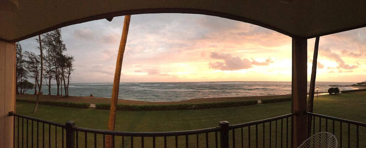 Watching sunrise from your own lanai