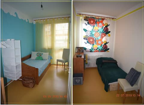 Cheerful rooms in a greenest location