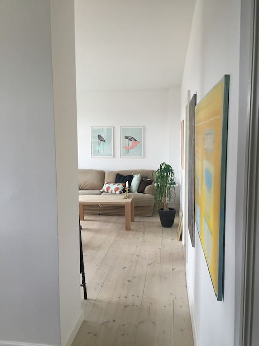 The living room from the hallway