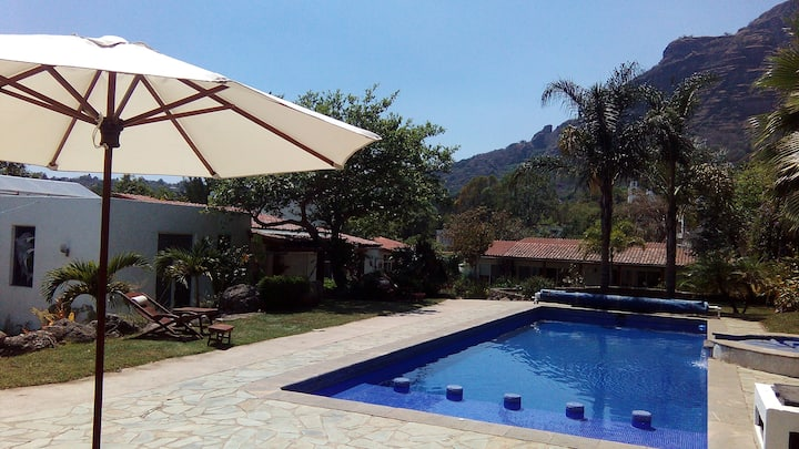1MasterSuite, terraza, piscina, jacuzzi, temazcal