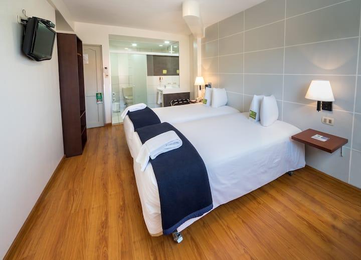 Céntrica habitación de Hotel