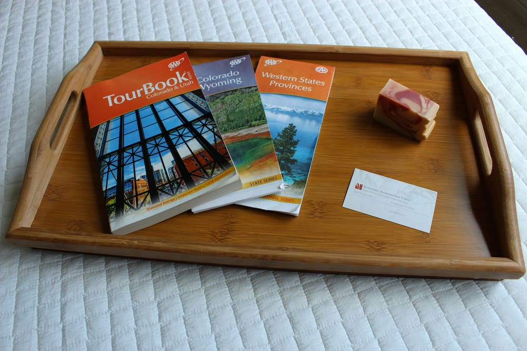 You be warmly welcomed with complimentary local artisan hand-crafted essential oil soap, and tour books to help you get the most out of your stay in Colorado.