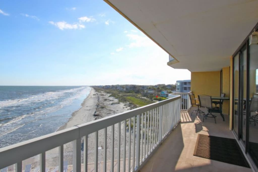 Great Views from the Private Oceanfront Balcony