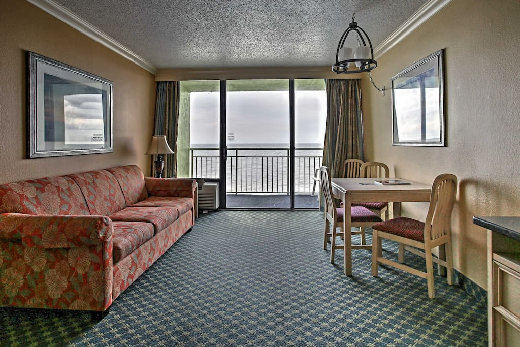 You'll have a cozy oceanfront condo to rest easy in after a long day on the beach.