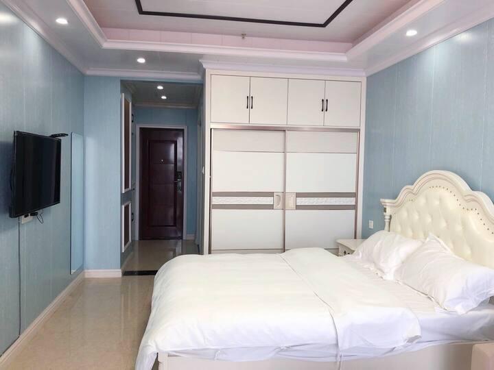美式大床房 带冰箱 洗衣机 大床房