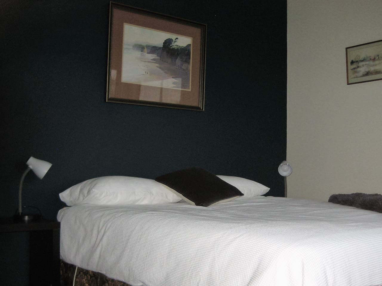 Main bedroom. Queen bed with electric blankets.