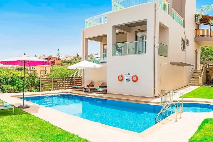 Villa Panagiotis -Private Pool -Close to 4 beaches