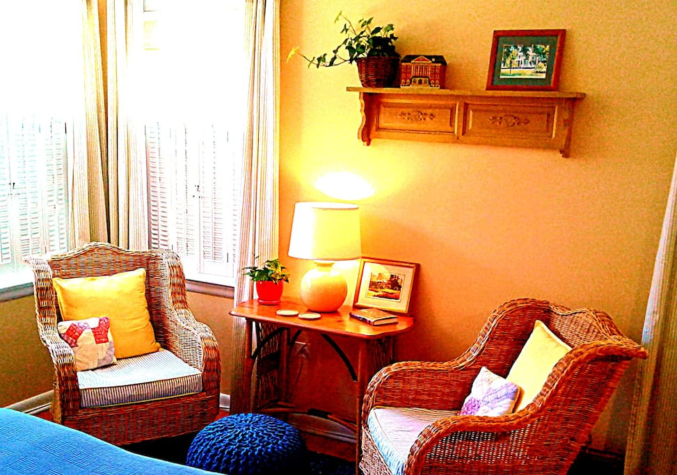 Put your feet up and relax in this comfortable corner.